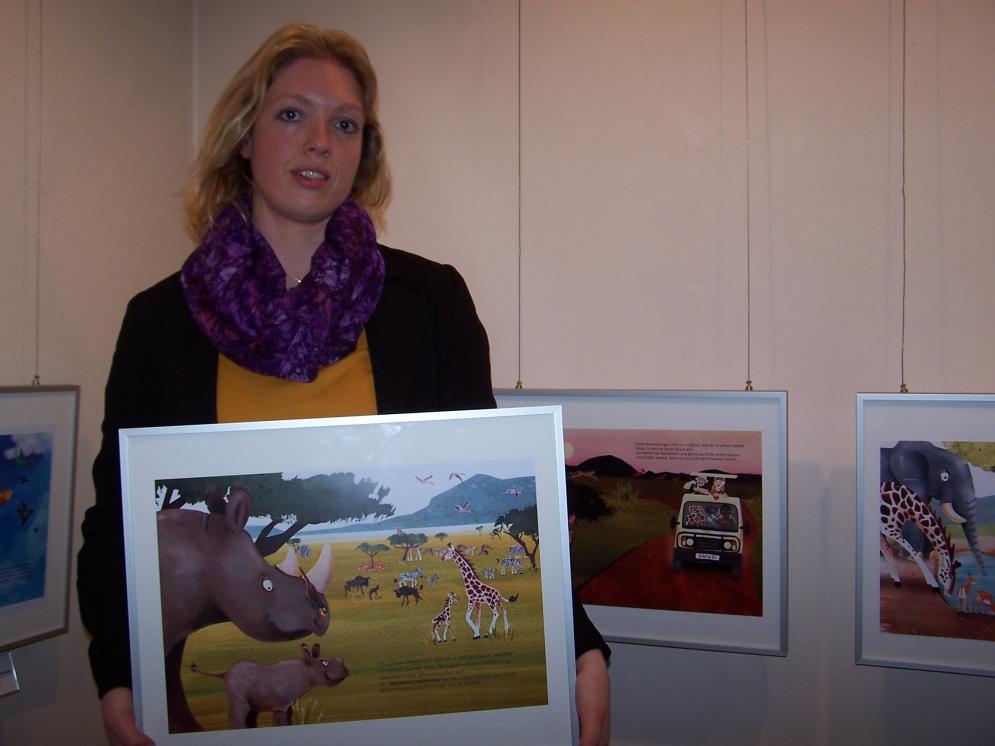 """Julia Reyelt gewann die Gunst des Publikums mit """"Das kleine Nashorn lebt in Afrika"""""""